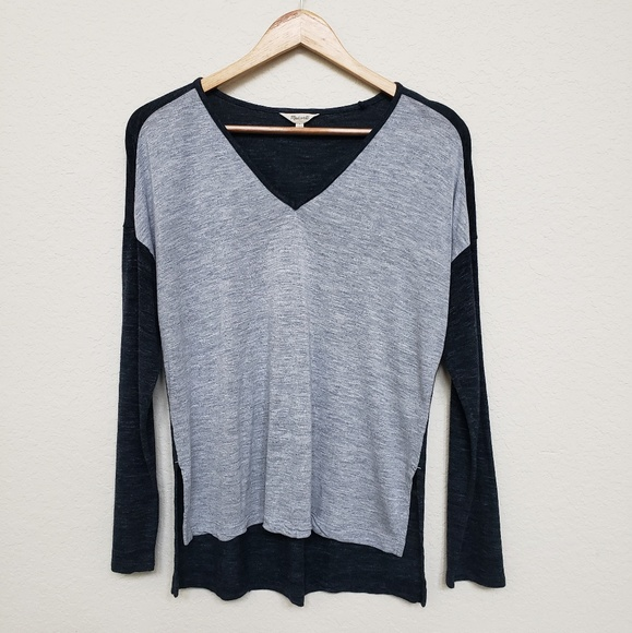 8fe26f7642 Madewell Tops - Madewell color block v neck long sleeve top